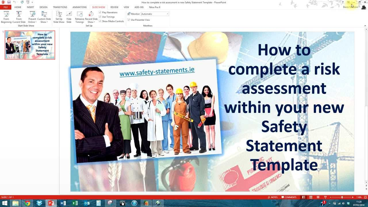 How to complete a risk assessment in your safety statement – Safety Statement Template