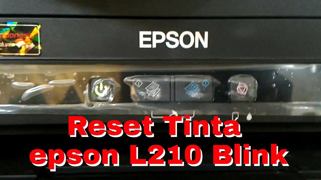 Cara Reset Tinta Epson L210 Blink Reset Ink Epson L210 Youtube