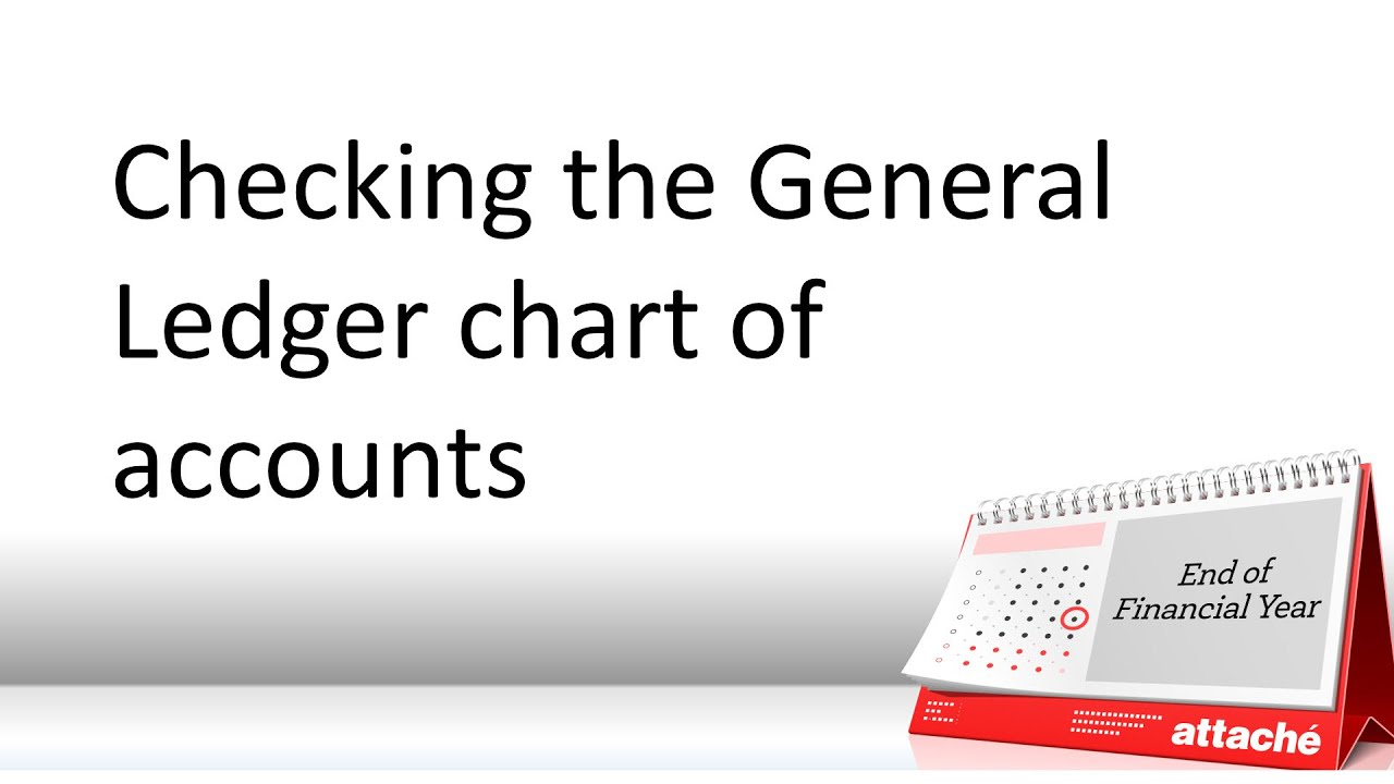checking the general ledger chart of accounts youtube