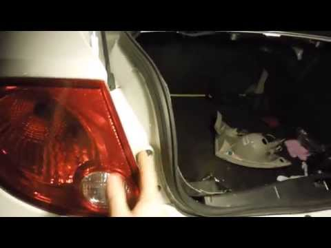 HOW TO CHANGE TAIL LIGHT AND REVERSE LIGHT BULBS 2007 COBALT