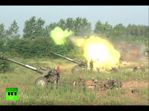 RAW: China holds massive day-night live-fire artillery drill