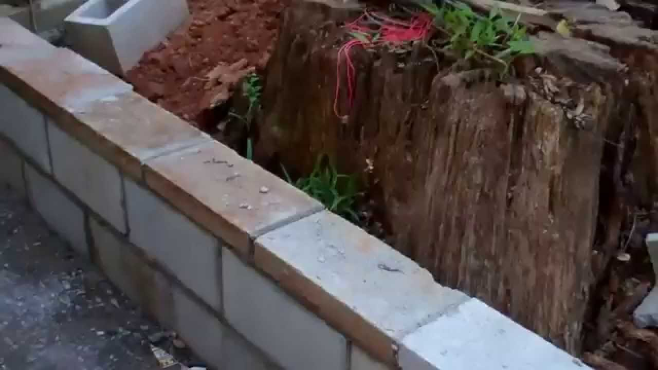 Constructing Another Retaining Wall Youtube