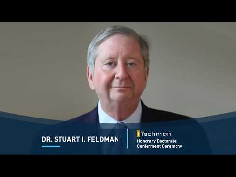 Dr. Stuart Feldman Technion Honorary Doctor
