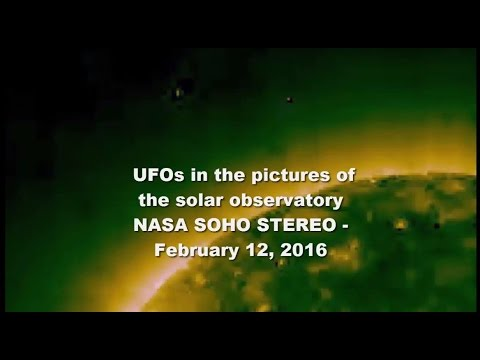 UFOs in the pictures of the solar observatory NASA SOHO STEREO - February 12, 2016