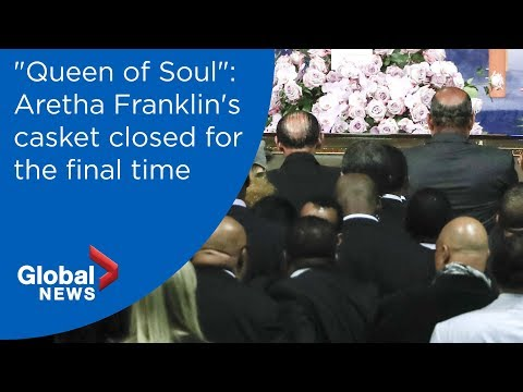 Aretha Franklin funeral: Music icon's casket closed for final time