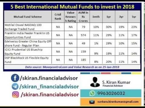 Best International Mutual Funds To Invest In 2018