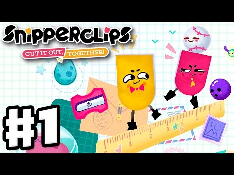 Snipperclips Gameplay Walkthrough Part 1 Noisy Notebook! Cut It Out, Together! (Nintendo Switch)