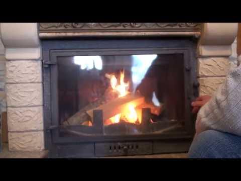 Как очистить стекло камина за пару минут!Лайфхак!How to clean a fireplace glass in a couple of min..