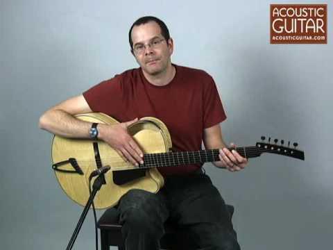 Acoustic Guitar Reviews Ken Parker's Acoustic Archtop, Spot.