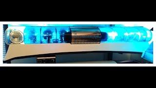 #10 Federal Signal Aerodynic 24EAH, PA200E politie sirene zwaailicht police lightbar 1990
