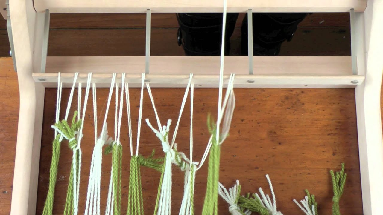 Tying a warp on a Rigid Heddle loom