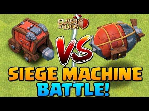 NEW SIEGE MACHINE VS. BATTLE! Wall Wrecker Vs Battle Blimp - Clash Of Clans Update   CoC 2018