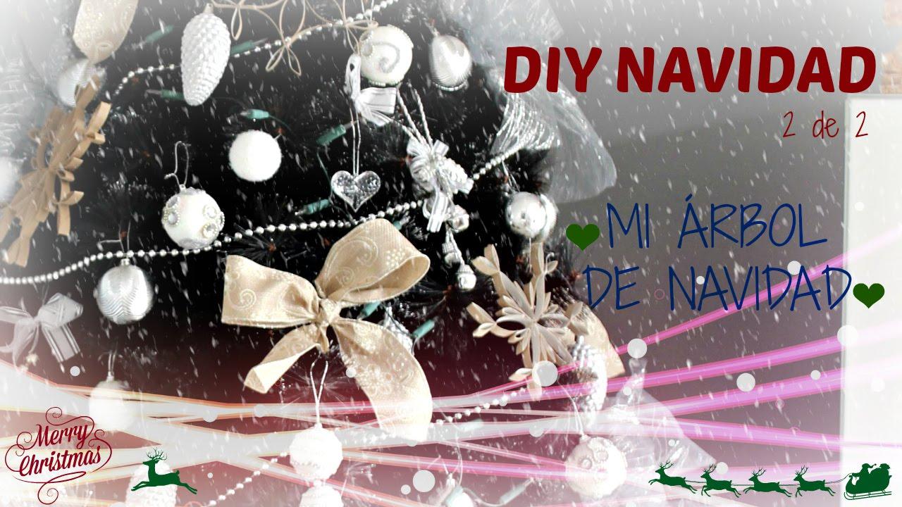 Diy navidad adornos para rbol de navidad lazos y - Lazos para arbol de navidad ...