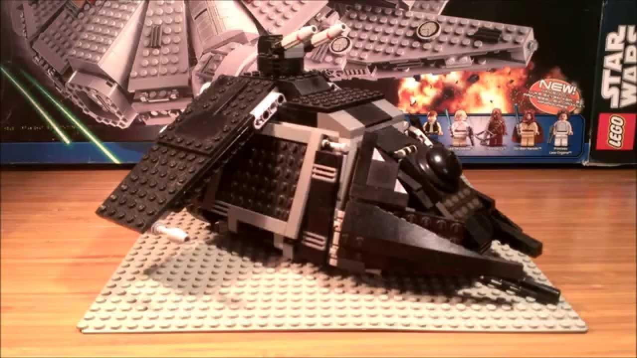lego starwars mocs: imperial dropship transport - youtube
