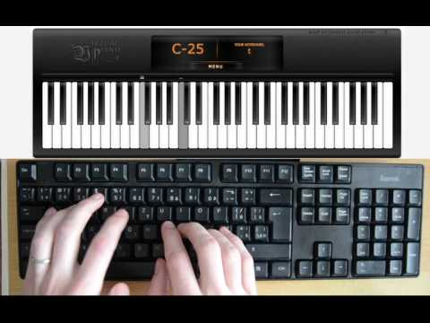 Adele - Hello (computer keyboard piano tutorial)