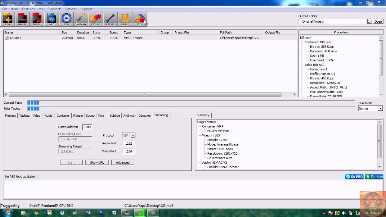Encode / convert videos to H 265 (HEVC) using MediaCoder