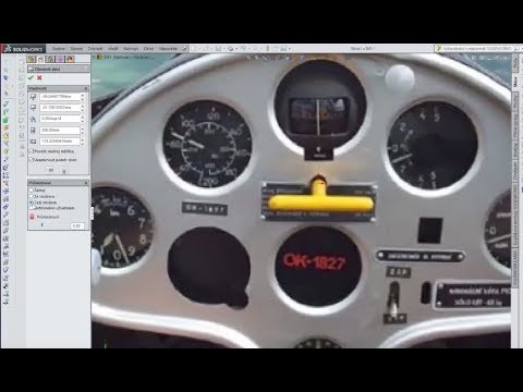 Palubka pro RC větroň - 3D mod. a 3D tisk / Dashboard for RC Glider - 3D Mod. and 3D printi