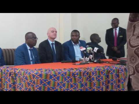 FIFA President Gianni Infantino reveals plans for African football