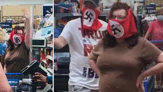 Trump supporters are casting any doubt aside and just straight up wearing the swastikas now.