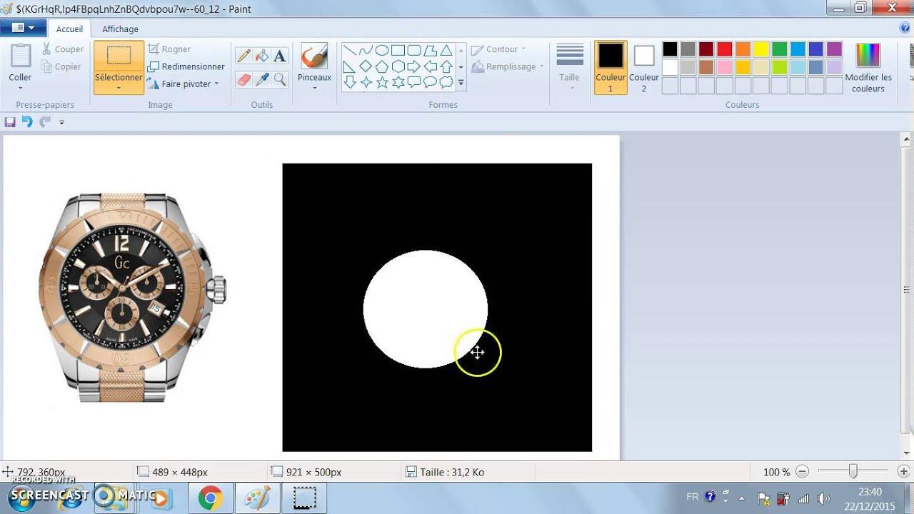 Comment Couper Une Image Circulaire Sur Paint Youtube