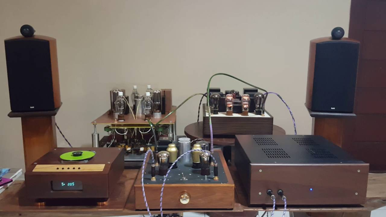 B Amp W 805s With Single Ended Tube Power Amp