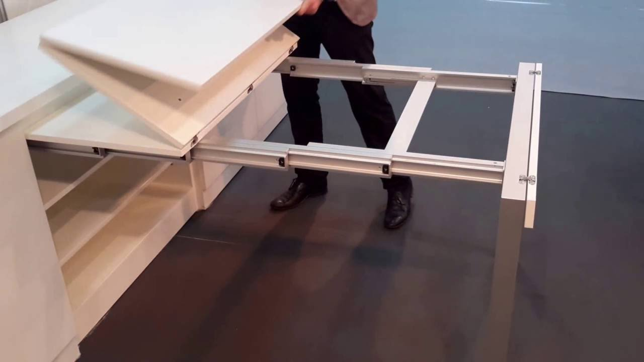 Kitchen Island Extendable Table Kitchen Pull Out Table - Youtube