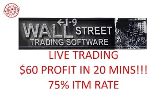 Binary Options Trading with Wall Street Trading Software Live 1 $60 Profit in 20mins