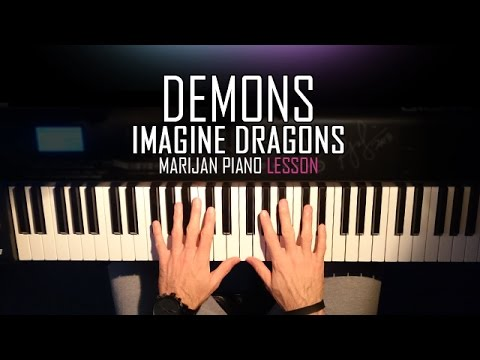 How To Play Imagine Dragons Demons Piano Tutorial Lesson Youtube