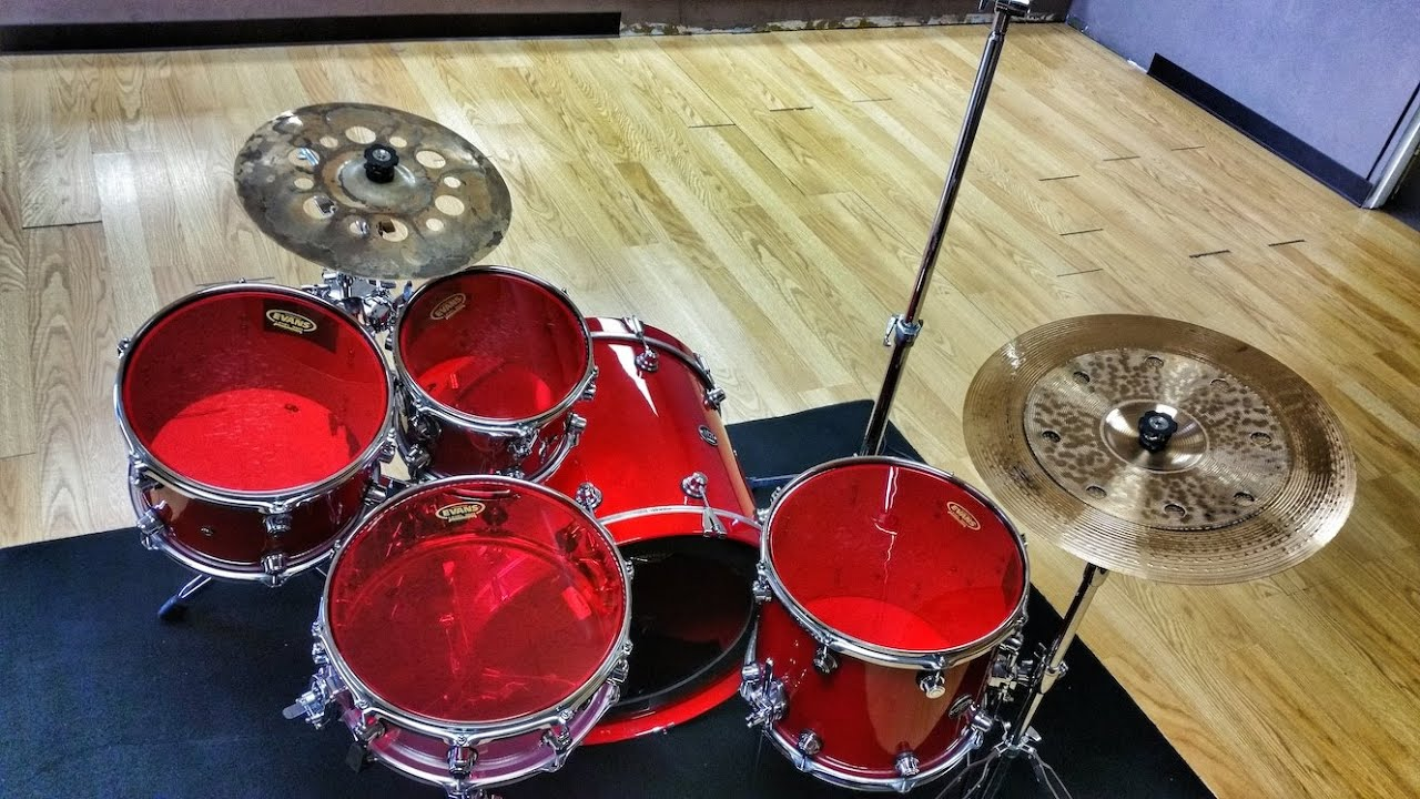 evans red hydraulic drum head review youtube. Black Bedroom Furniture Sets. Home Design Ideas