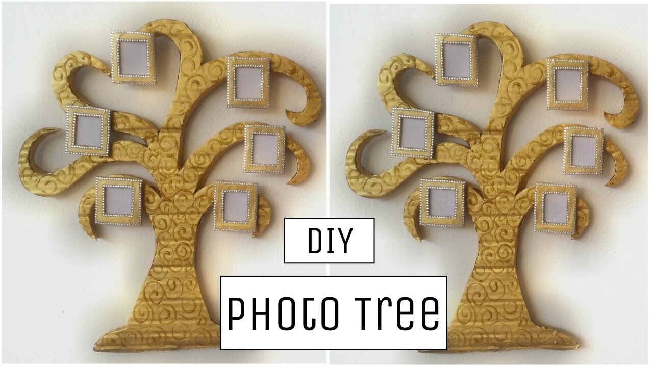 DIY Crafts: Innovative cardboard photo tree wall hanging ...