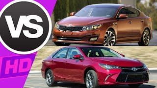 2015 Toyota Camry VS Kia Optima Sedan    || Visual Comparison