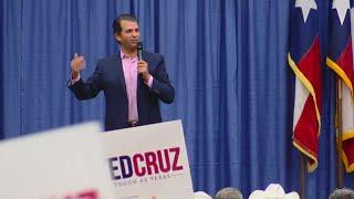 Donald Trump Jr. campaigns for Ted Cruz in Wichita Falls