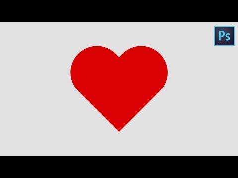 Как сделать сердце в фотошопе 110