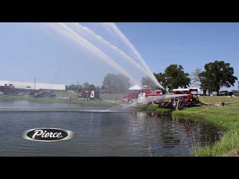 The NEW Pierce High Flow Industrial Pumper at TEEX Fire School