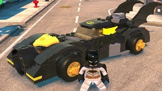 Batman Ejects From Batmobile and Glides Across the Map in LEGO DC Super-Villains
