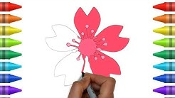 Bunga Cantik Dan Indah Cara Menggambar Dan Mewarnai Super