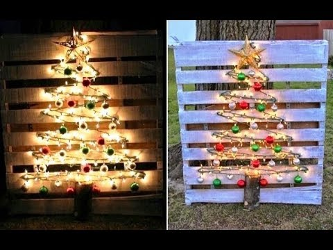 30 creative pallet christmas decoration ideas - Pallet Christmas Decoration Ideas