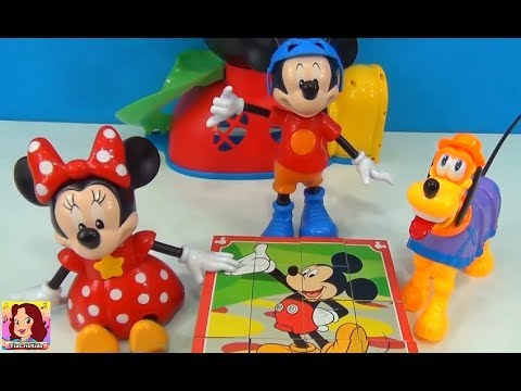 Mickey Mouse Minnie Mouse and Pluto -Cube Puzzle Disney Toys #Mickeymouseclubhouse