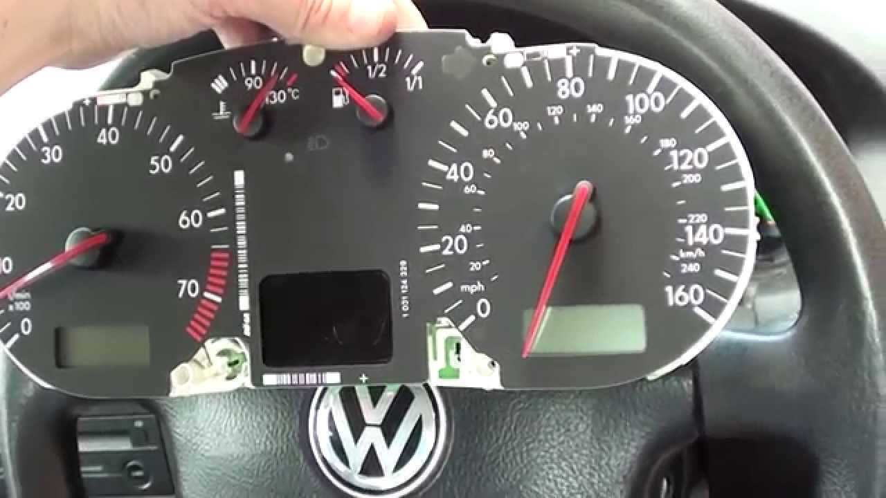 Sneaky Previous Owner Removed Bulbs Behind Vw Golf Mk4 Dashboard Abs Light You