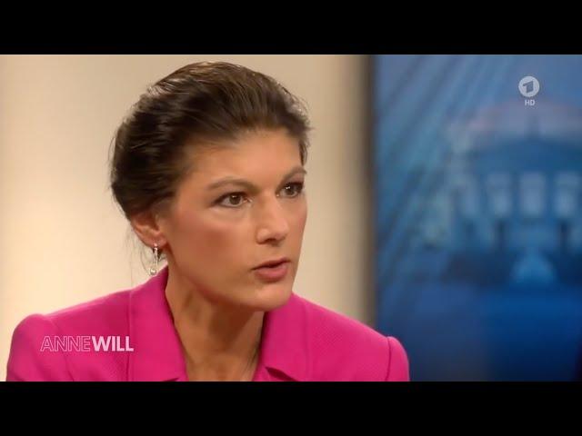 Sahra Wagenknecht am 9. Februar 2020 in der ARD-Sendung Anne Will