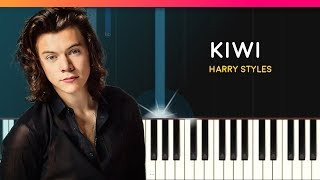 "Harry Styles - ""Kiwi"" EASY Piano Tutorial - Chords - How To Play - Cover"