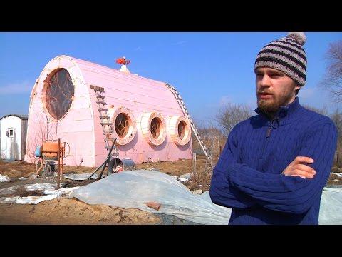Креативный дом из морских контейнеров на дачном участке Интерьер дома из грузовых контейнеров