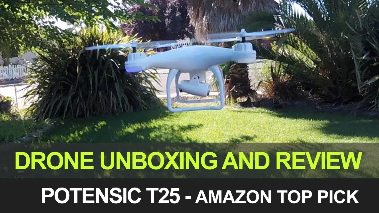 Potensic T25 Unboxing Quadcopter Drone Testing & Review