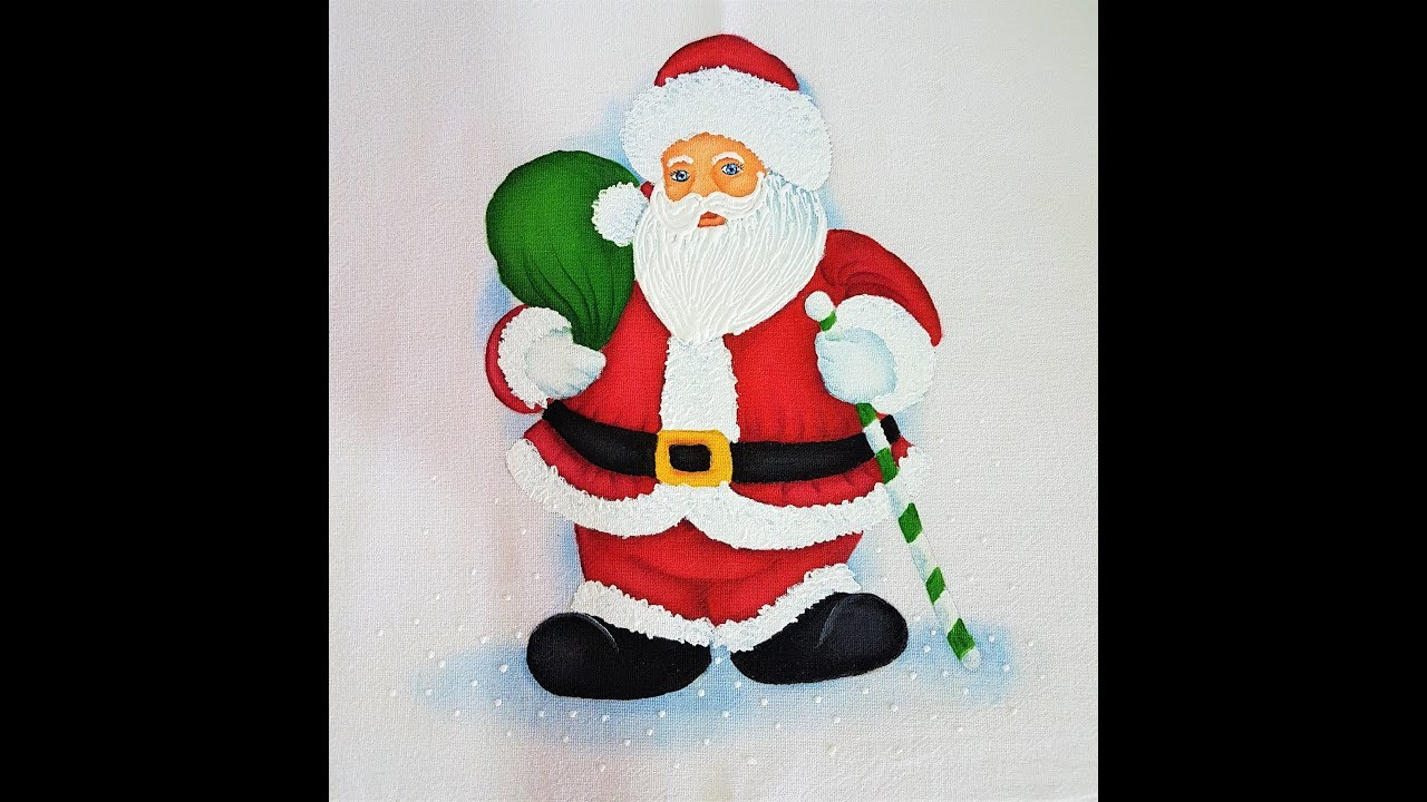 Pintura Em Tecido De Papai Noel Youtube