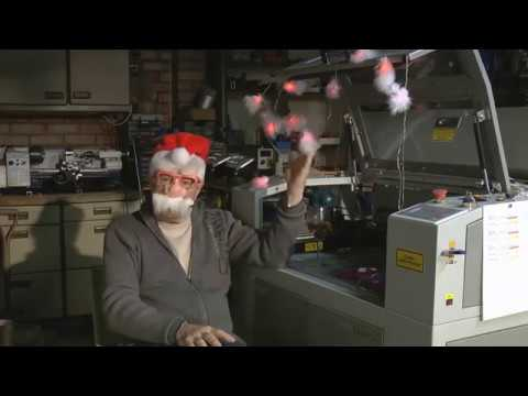 RDWorks Learning Lab 90 Beam Setting  Christmas Special