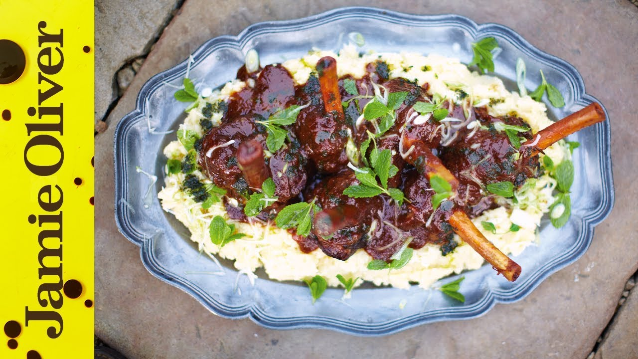 Slow cooked lamb shanks jamie oliver youtube forumfinder Choice Image