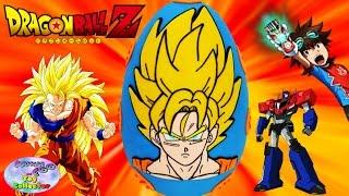 DRAGONBALL Z GOKU Giant Play Doh Surprise Egg - Power Level over 9000! - SETC