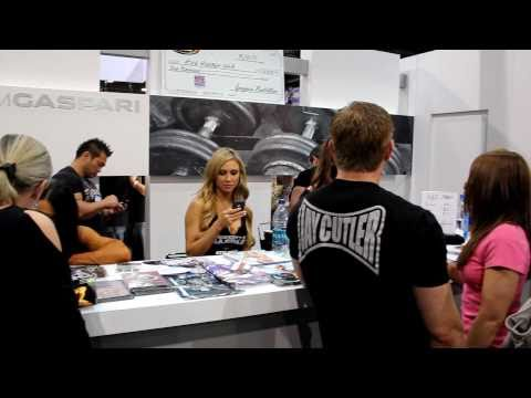 Marzia Prince and the Gaspari Nutrition Booth