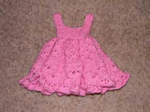 Free Baby Girl Crochet Dress - YouTube