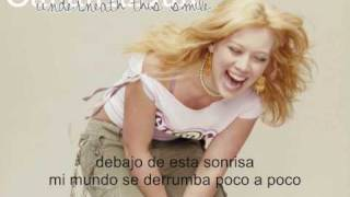 Hilary Duff - underneath this smile (español)
